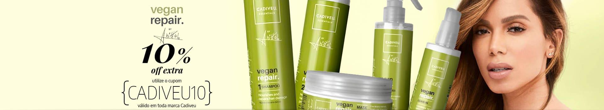 Cadiveu Vegan Repair da Anitta com 10% OFF EXTRA