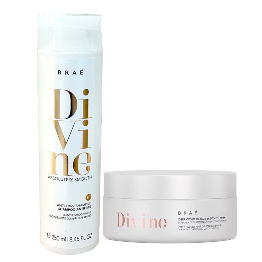 Braé Divine Absolutely Smooth Kit Cuidados Anti-frizz (2 produtos)