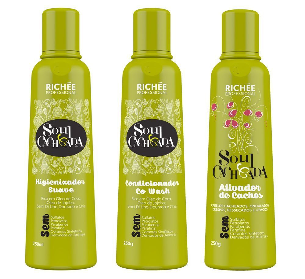 Richée Soul Cacheada Kit Tratamento (3x250ml)