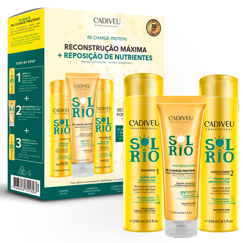 Cadiveu Sol do Rio Kit Re-Charge Protein