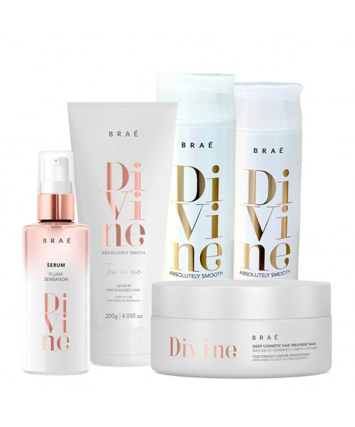 Braé Divine Absolutely Smooth Kit Tratamento Anti-frizz Completo (5 produtos)