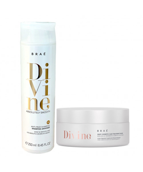 Braé Divine Absolutely Smooth Kit Cuidados Anti-frizz (2 produtos)