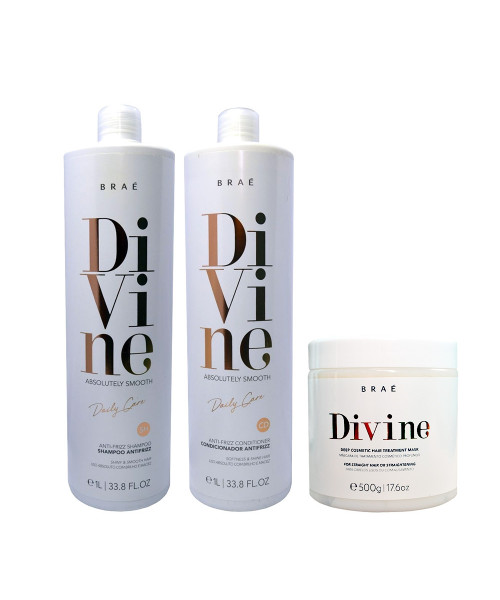 Braé Divine Absolutely Smooth Kit Tratamento Profissional (3 Produtos)