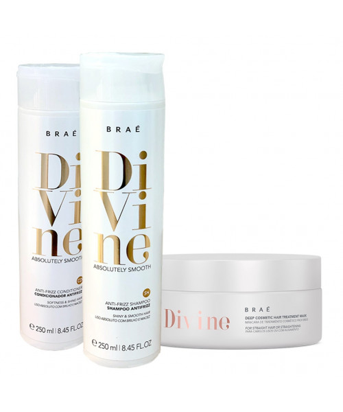 Braé Divine Absolutely Smooth Kit Tratamento Anti-frizz (3 produtos)