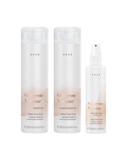 Braé Gorgeous Volume Kit Tratamento (3 produtos)