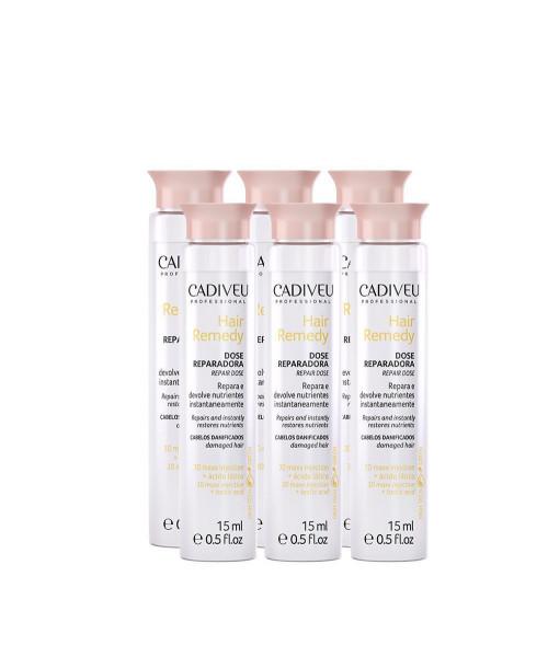 Cadiveu Hair Remedy Dose Reparadora Ampola (Caixa 6x15ml)