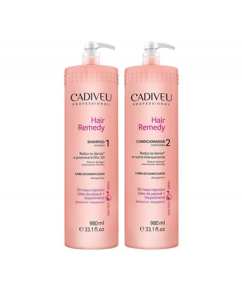Cadiveu Hair Remedy Kit Duo Profissional (2x980ml)