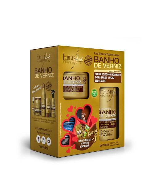 Forever Liss Banho de Verniz Kit Especial (2 produtos)