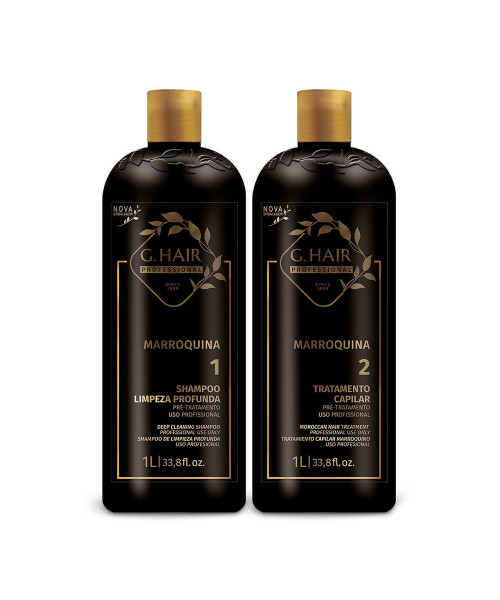 G.Hair Marroquina Escova Progressiva Kit Profissional (2x1L)