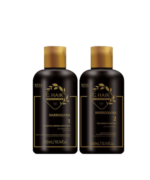 G.Hair Marroquina Escova Progressiva Kit Pequeno (2x300ml)