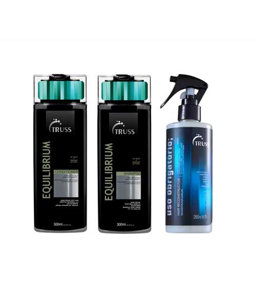 Truss Kit Equilibrium Shampoo e Condicionador 300ml + Uso Reconstrutor 260ml