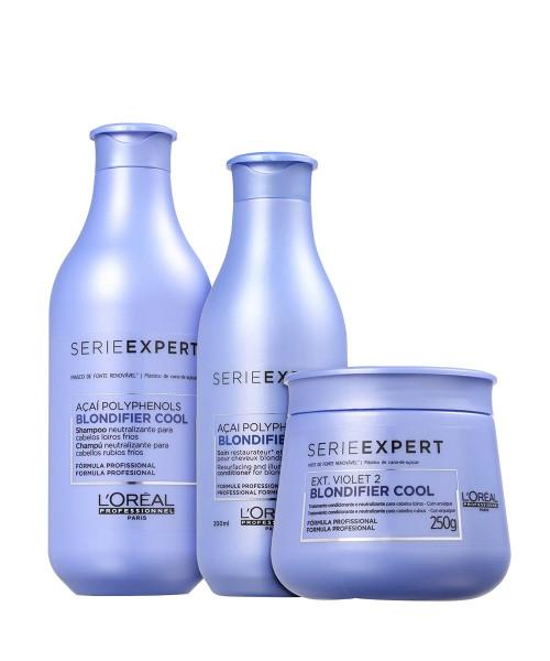 L'Oréal Blondifier Cool Matizador Kit Tratamento (3 produtos)