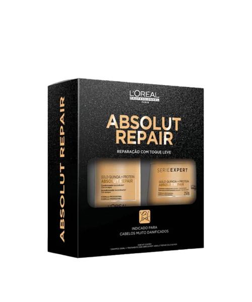 L'Oréal Absolut Repair Gold Quinoa Kit Cuidados Profissional (2 produtos)