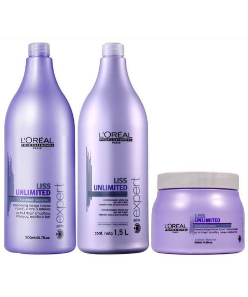 L'Oréal Liss Unlimited Kit Tratamento Profissional