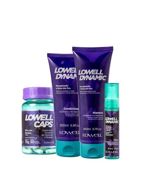 Lowell Dynamic Kit Tratamento Completo (4 produtos)