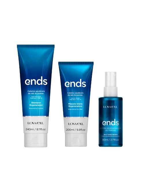 Lowell Ends Kit Tratamento (3 produtos)
