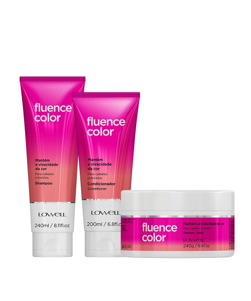 Lowell Fluence Color Kit Tratamento (3 produtos)