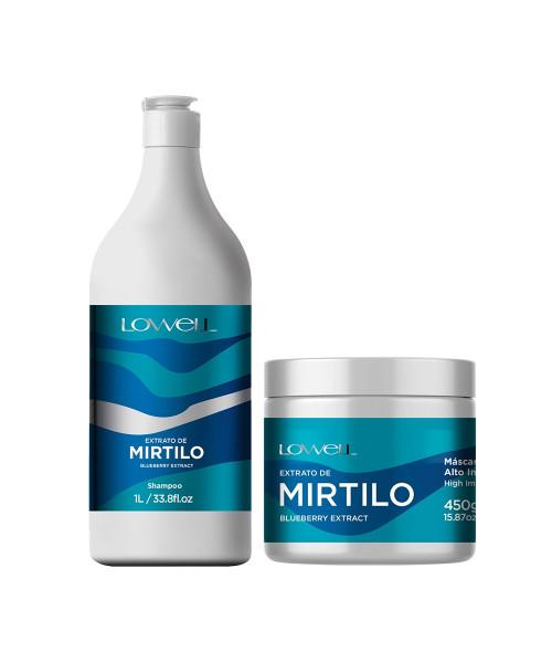 Lowell Extrato de Mirtilo Kit Tratamento Profissional (2 produtos)