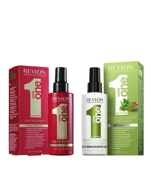 Revlon Professional Uniq One All In One Leave-in 150ml + Green Tea Scent Leave-in 150ml