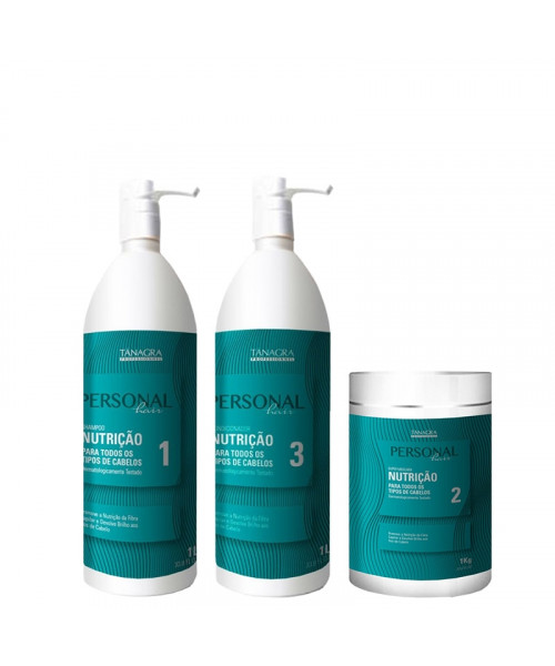 Tânagra Personal Hair Kit Profissional Nutrição Tratamento (3x1L)