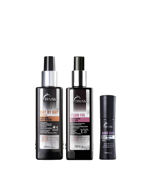 Truss Kit Profissional Spray Finalizadores - (Day by Day + Gloss Shine + Fluid Shine)