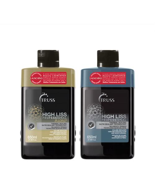 Truss Kit Selagem Térmica High Liss 650ml + High Liss Blond 650ml