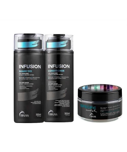 Truss Kit Infusion Shampoo e Condicionador 300ml + Máscara Specific 180g
