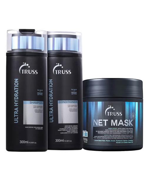 Truss Kit Ultra Hydration Shampoo e Condicionador 300ml + Net Mask 550g